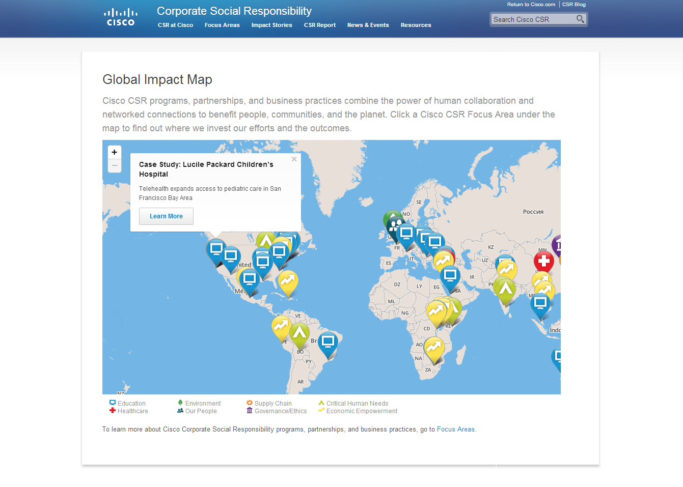 3-Global Impact Map   CSR Programs   Cisco