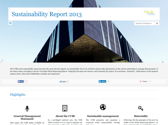 CCIB Sustainability Report 2013