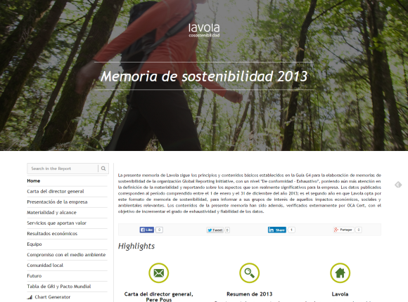 Lavola Sustainability Report 2013